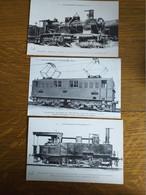 3 CPA Les Locomotives Française Collection  F FLEURY - Trains