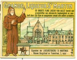 Oud Etiket Grande Liqueur St Martin Likeur - Likeurstokerij / Distillerie St Martinus Te Aalst - Other