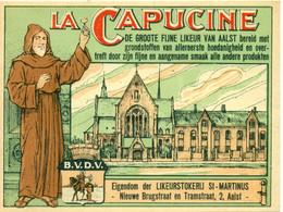 2 Verschillende Oude Etiketten La Capucine Likeur - Likeurstokerij / Distillerie St Martinus Te Aalst - Other