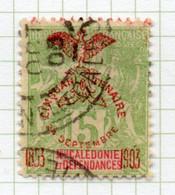 37CRT798 - NUOVA CALEDONIA 1903 , Yvert N. 71 Usato . - Used Stamps