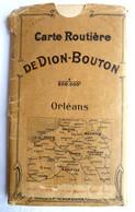 SUPERBE ET RARE CARTE ANCIENNE DE DION BOUTON DANS SON ETUI Avant 1910 ORLEANS - Roadmaps