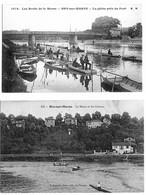 Bry Sur Marne Val De Marne 2 Cpa Peche Bords De Marne Animés 1914 état Superbe - Bry Sur Marne
