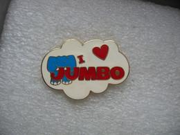 Pin's Elephant: I Love Jumbo (Embleme De Magasins De Bricolage En Suisse) - Animali