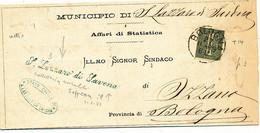 1889 SAN LAZZARO DI SAVENA CORSIVO VERDE DI COLLETTORIA RURALE - Marcophilie