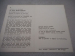 D.P.OUD KRIJSGEVANGENE 1940-45  PHILIP DENYS °LICHTERVELDE 13-9-1918 ANDERLECHT 10-4-1977 - Religion & Esotericism