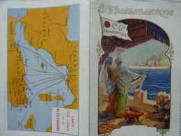 """Ancien Menu De La Cie Gale Transatlantique 1914, Paquebot """"Ville De Bône"""" - Menus"""