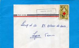 "Marcophilie- Lettre -haute Volta->Françe-cad+ Flamme "" Refuge De La Nature.. -1966-Thematic Stamps -N°159 Croix Rouge - Upper Volta (1958-1984)"
