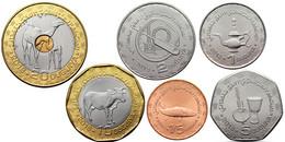 MAURITANIA 6 COINS SET 1/5 1 2 5 10 20 OUGUIYA СAMEL BIMETAL 2017 - 2018 UNC - Mauritania