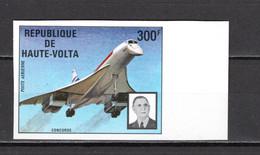 HAUTE VOLTA   PA  N° 168 NON DENTELE NEUF SANS CHARNIERE  COTE  ? €  CONCORDE AVION   GENERAL DE GAULLE - Upper Volta (1958-1984)