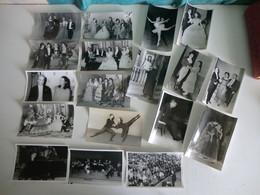 03 VICHY ALLIER. LOT DE 18 PHOTOS - Spectacles -thêatre -artiste - Casino De Vichy Précisé Au Verso De La Photo - - Places