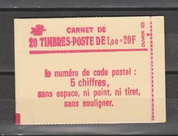 SABINE: 1.00f Rouge Carnet De 20 Timbres - Definitives