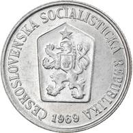 Monnaie, Tchécoslovaquie, 10 Haleru, 1969, TTB, Aluminium, KM:49.1 - Czech Republic