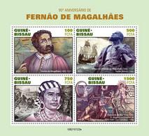 2021/03- GUINEA BISSAU - FERDINAND MAGELLAN    4V   MNH ** - Explorateurs