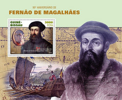 2021/03- GUINEA BISSAU - FERDINAND MAGELLAN    1V   MNH ** - Explorateurs