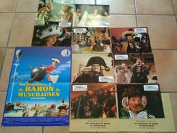 AFFICHE CINEMA FILM  LES AVENTURES DU BARON DE MUNCHAUSEN + 9 PHOTOS Terry GILLIAM 1988 TBE - Affiches & Posters