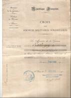 Médaille Délivrée à Cartigny-le 07-09-1936 - Documents