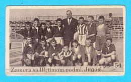 Yugoslav Pre-WW2 Football Card RICARDO ZAMORA (Spain) With The Youth Team * Real Madrid CF Barcelona FC Espana Futbol - Trading Cards