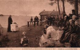 """CPA - Albert Gustaf Aristides EDEFELT - """"Service Divin Au Bord De La Mer"""" ... (Peintre Finlandais Né à PORVOO) - Finlande"""