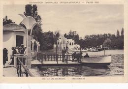 Paris - Exposition Coloniale Internationale 1931 - Le Lac Daumesnil - Embarcadère - Tentoonstellingen