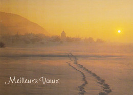 A5195 - Meilleurs Voeux, Best Wishes, Sunset/Church, Photo Photographs Postcard - Photographs