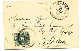 1897 SPEZIA -ARSENALE (GENOVA) CERCHIO GRANDE - Marcofilía