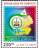 Ref. 603641 * MNH * - DJIBOUTI. 2016. ANNIVERSARY OF INDEPENDENCE . ANIVERSARIO DE LA INDEPENDENCIA - Yibuti (1977-...)