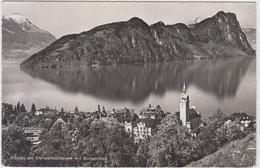 Carte Photo - Vitznau Am Vierwaldstättersee Mit Bürgenstock - 1959 - LU Lucerne