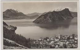 Carte Photo - Vitznau  Mit Bürgenstock - 1935 - LU Lucerne