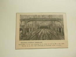 """Origineel Knipsel ( D 753 ) Uit Tijdschrift """" Ons Volk """" 1924 :  Spoorweg  Harwich - Zeebrugge - Ohne Zuordnung"""