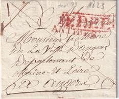 FRANCE  1823   LETTRE DE ANTIBES  AVEC CORRESPONDANCE - 1801-1848: Voorlopers XIX