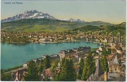 Luzern Mit Pilatus - 1958 - LU Lucerne
