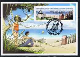 Atm, Lisa2 0.85, Carte Souvenir Philapostel De CHAMI, 2/3 Juin 2017,Longeville, MOULIN à Vent. Voilier, Menhir - 2010-... Geïllustreerde Frankeervignetten