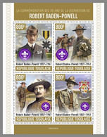 TOGO 2021 MNH Robert Baden-Powell Scouts Pfadfinder M/S - OFFICIAL ISSUE - DHQ2120 - Unused Stamps