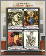 TOGO 2021 MNH Albrecht Dürer Paintings Gemälde Peintures M/S - OFFICIAL ISSUE - DHQ2120 - Other