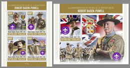 TOGO 2021 MNH Robert Baden-Powell Scouts Pfadfinder M/S+S/S - IMPERFORATED - DHQ2120 - Unused Stamps