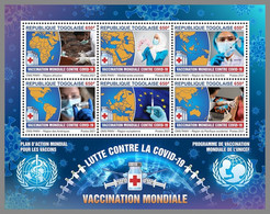 TOGO 2021 MNH Pandemic Covid-19 Red Cross Rotes Kreuz Croix Rouge M/S - IMPERFORATED - DHQ2120 - Red Cross