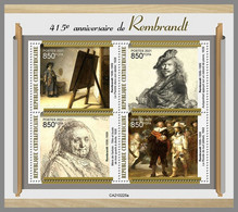 CENTRALAFRICA 2021 MNH Rembrandt Paintings Gemälde Peintures M/S - OFFICIAL ISSUE - DHQ2120 - Rembrandt