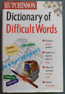 Hutchinson Dictionary Of Difficult Word - Lingua Inglese/ Grammatica