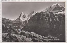 Carte Photo - Mürren Mit Wetterhörner - Eiger, Mönch & Jungfrau - BE Berne