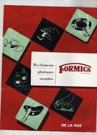 Formica Marque Déposé Revêtement Plastique Stratifié De La Rue Londres Paris Dépliant Pub Plu Courrier 1953 - Advertising