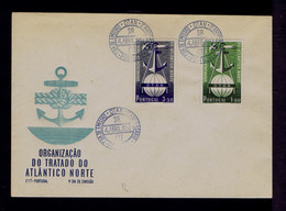 PORTUGAL Lisboa Town 1952 Set NATO OTAN  3th Anni.fdc/courtesy Pmk Gc5644 - NATO