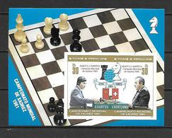 Sao Tome 1981 Chess - World Championship IMPERFORATE MS MNH - Sao Tome And Principe