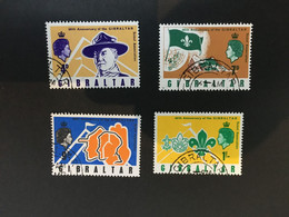 (stamp 13-5-2021)  Gibraltar (4 Stamps) Scouts - Unclassified