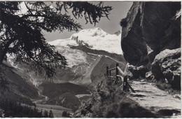 Carte Photo - Saas-Fee , Blick Vom Kapellenweg Auf Fee-Gletscher Und Alphubel - VS Valais