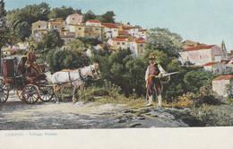 Greece Postcard Corfu Pelaka Village - Greece