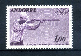 1972 ANDORRA FRANCESE SET MNH ** N.220 XX Olimpiadi A Monaco Di Baviera - Nuevos