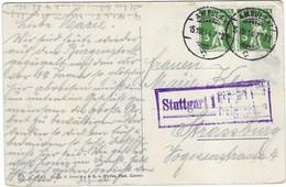 1914 Cachet Ambulant Suisse / Censure Stuttgart (Allemagne) / Pour Strasbourg / Sur CPA Bürgenstock - Switzerland