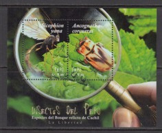 2017  Peru Insects Beetles Souvenir Sheet   MNH - Peru