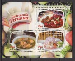 2017  Peru Food Gastronomy  Souvenir Sheet   MNH - Peru