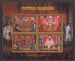 2017 Peru Cusquena Paintings Art Souvenir Sheet   MNH - Peru